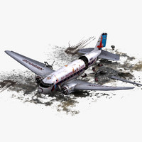DC-3 Plane Air Crash