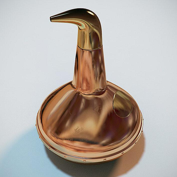 3dsmax copper pot decanter