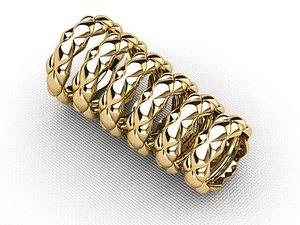 wedding ring set 3d 3ds