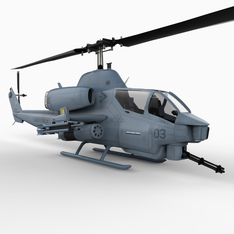 3d model super cob attack helicopter
