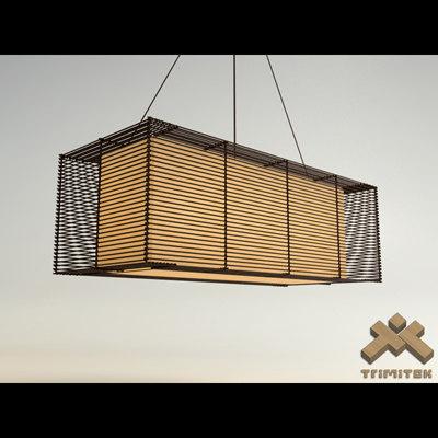 max kai rectangular hanging lamp