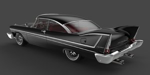 classic plymouth fury 1956 3d 3dm