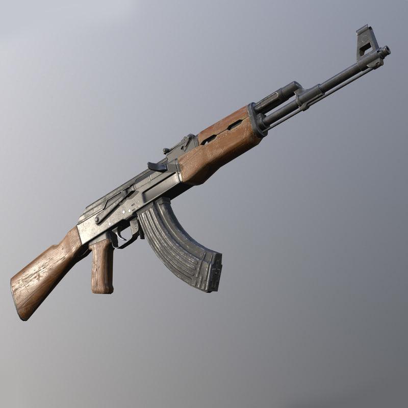 c4d kalashnikov ak-47