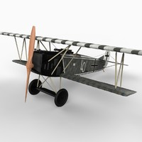 fokker d vii fighter 3d model