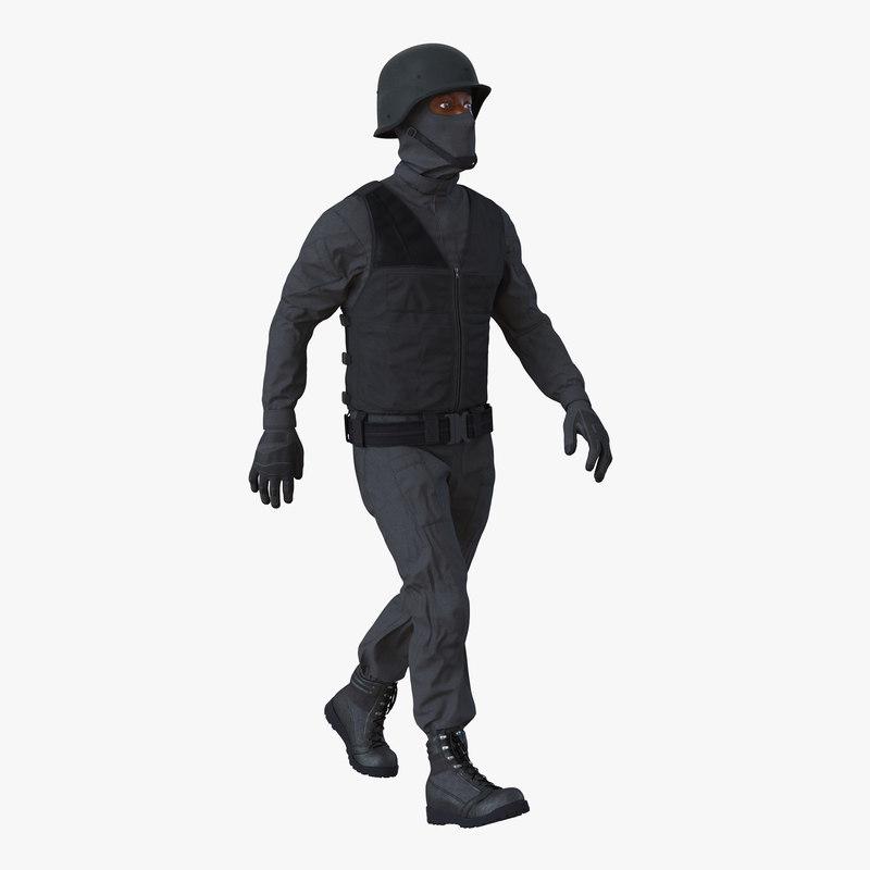 max swat man afro american