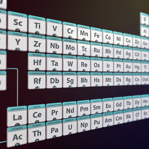 3d model of periodic table elements chemistry