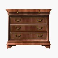 realistic wooden cabinet wood 3d model