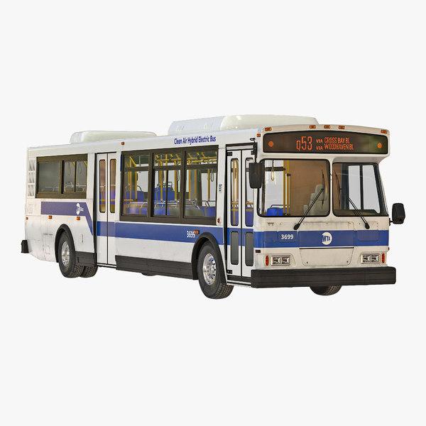 3d mta new york city bus