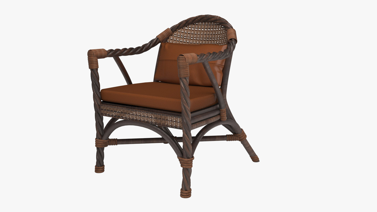 leather wicker chair 3d max