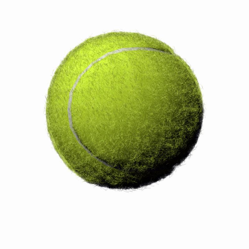 tennis ball 3d 3ds