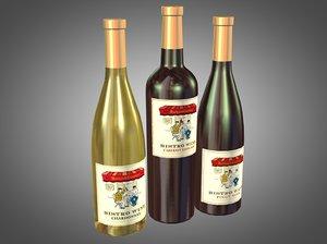 3ds max bottles bistro wine