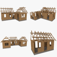 3d model pack timber frame construction