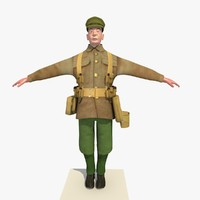 3d ww1 british soldier version