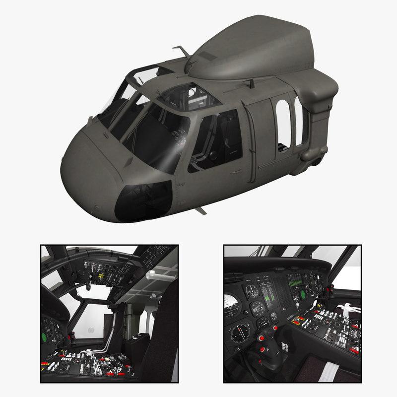 3d purchase uh-60 blackhawk helicopter cockpit