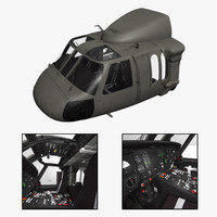 3d purchase uh-60 blackhawk helicopter cockpit