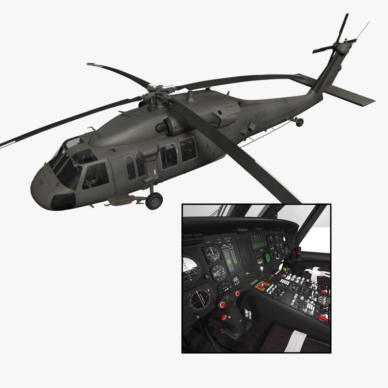 purchase uh-60 blackhawk helicopter 3d model