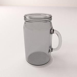 3d mason jar handle