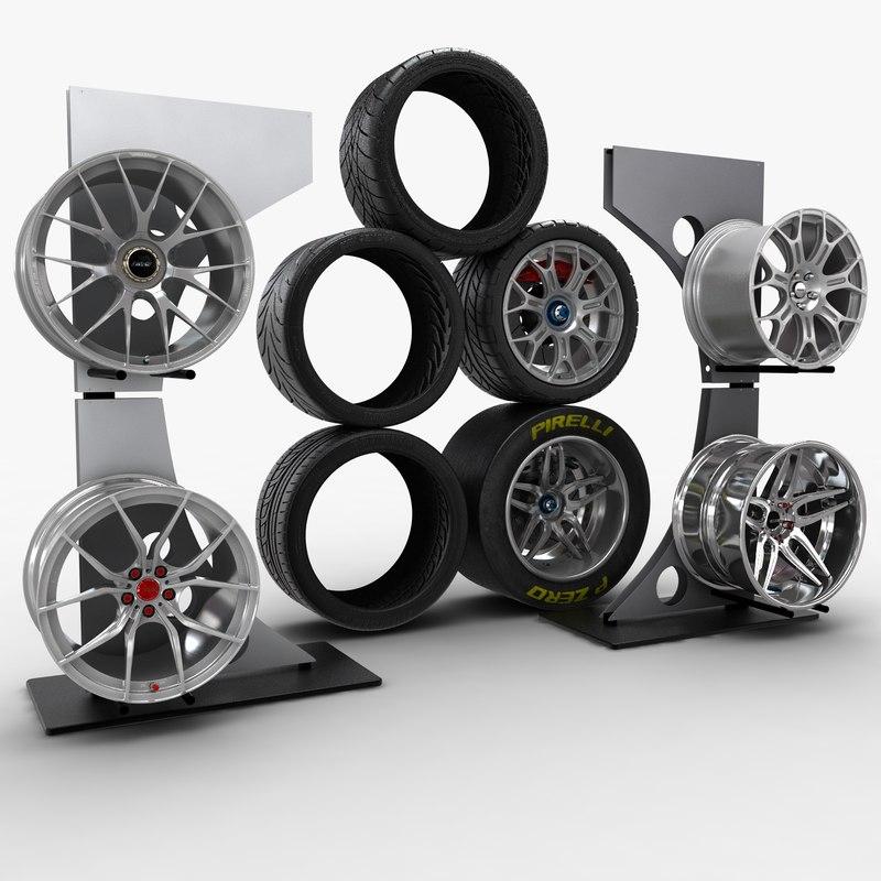 3d max scene wheels