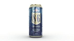 3d frozen beer model