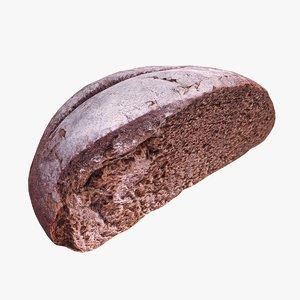 brown bread cut 3d max