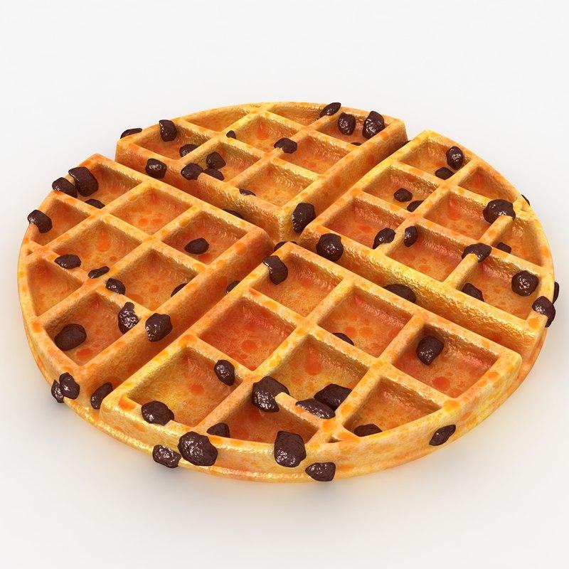 realistic waffle raisins 3ds