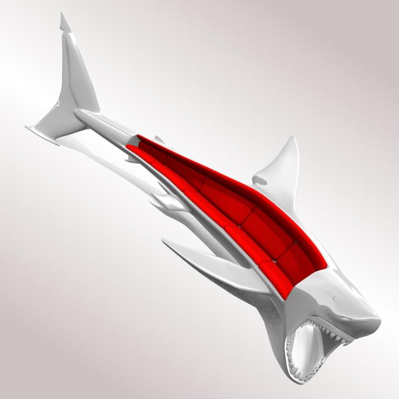3dsmax sofa shark