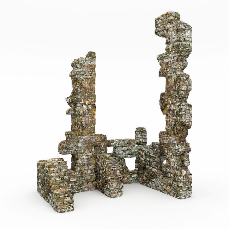 3d max ruins tower