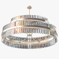 3d model opus double tier lamp light