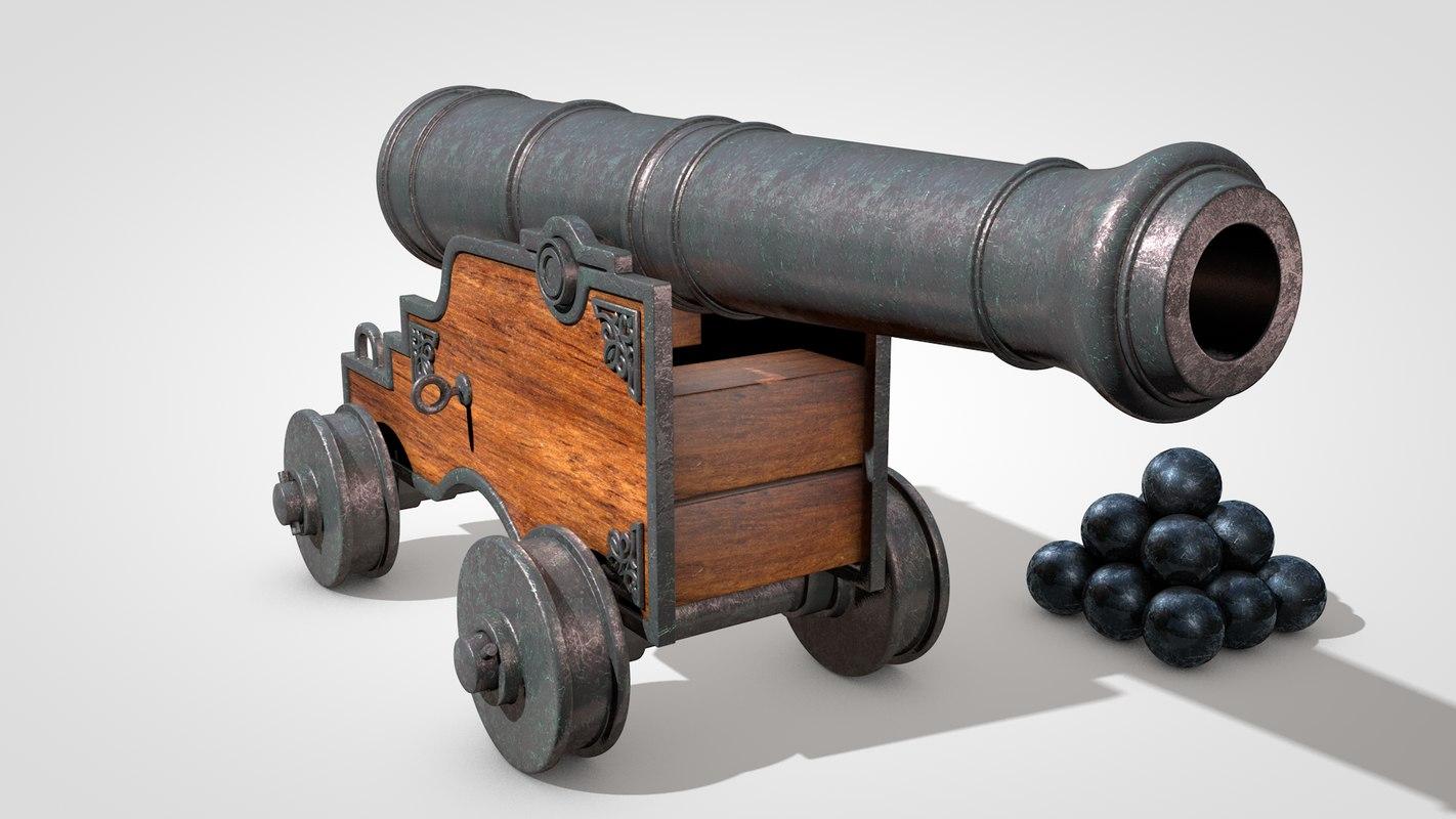 3d vessel cannon model