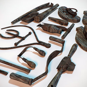 assorted coopers tool antique 3d 3ds