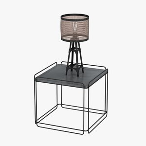 table lamp industrial 3d 3ds