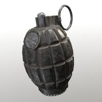 Lowpoly 36M Mills Bomb