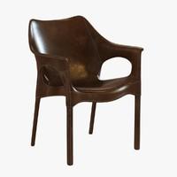 armchair leather 3d 3ds