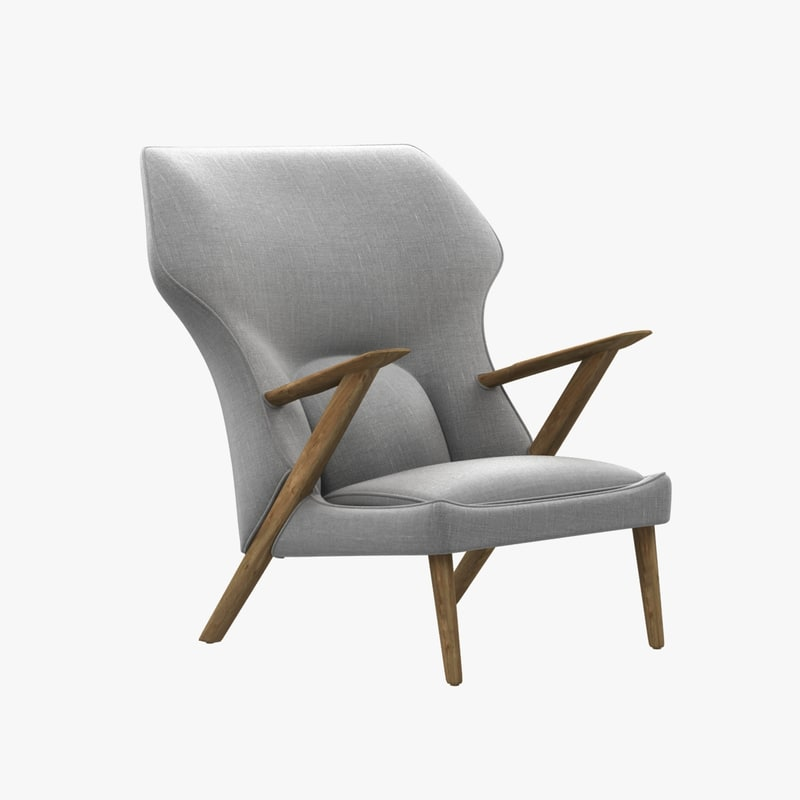 chair veendam lounge control 3d model
