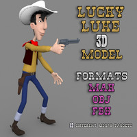 Luck Luke 3D Rigged Model