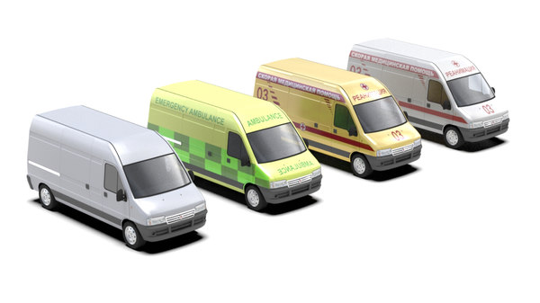 vehicle ambulance 3d model