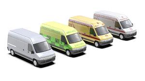vehicle ambulance 3d model