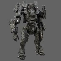 robot biped max