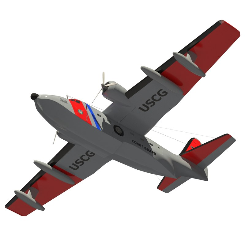 3d model hu-16 aircraft