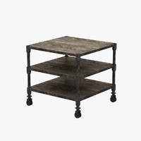 3d model dutch industrial table