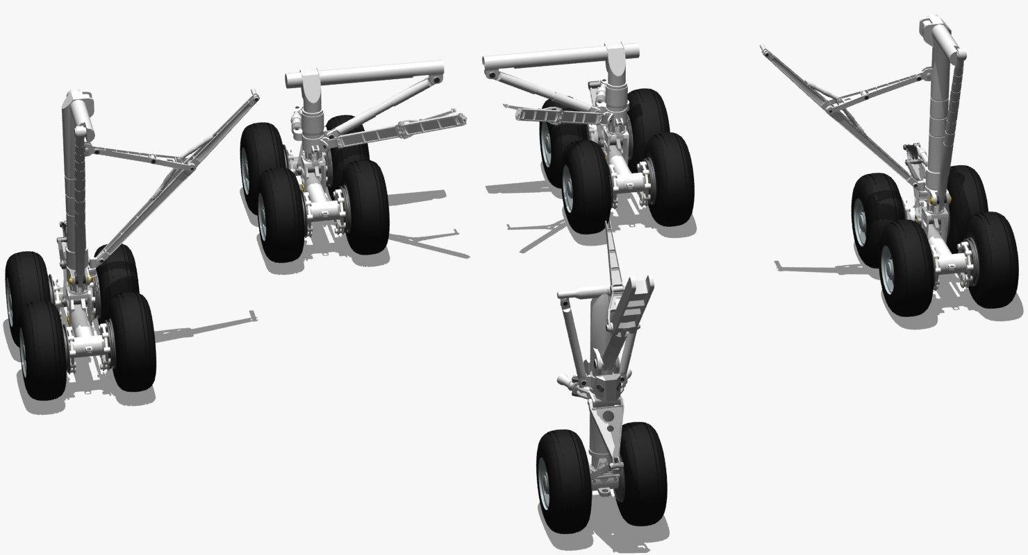 3d b 747 landing gear