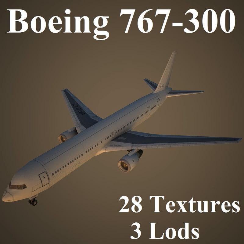 boeing 767-300 3d max