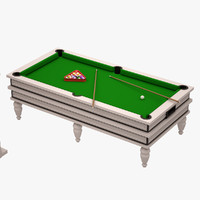 3d billard table model