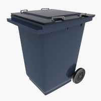3d wastebasket waste basket model