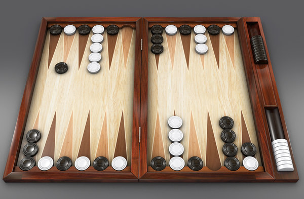 3d backgammon model