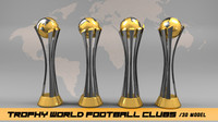 Trophy world football clubs