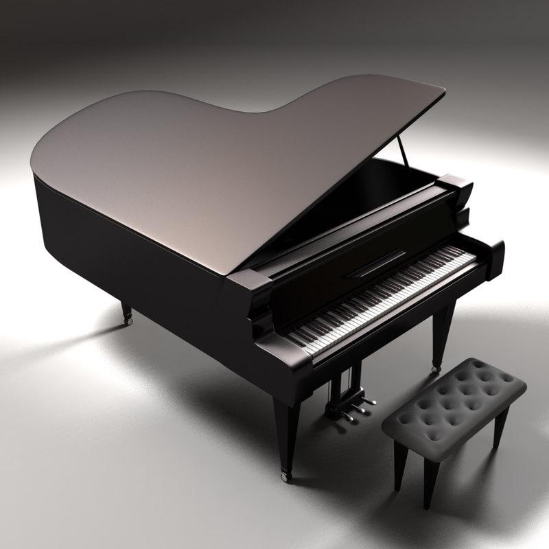3d model grandpiano piano