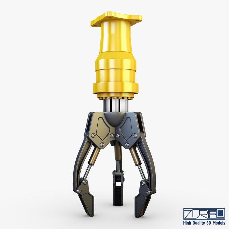 hydraulic grab v 2 3d max