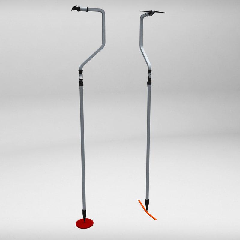 3d model ski lift rod