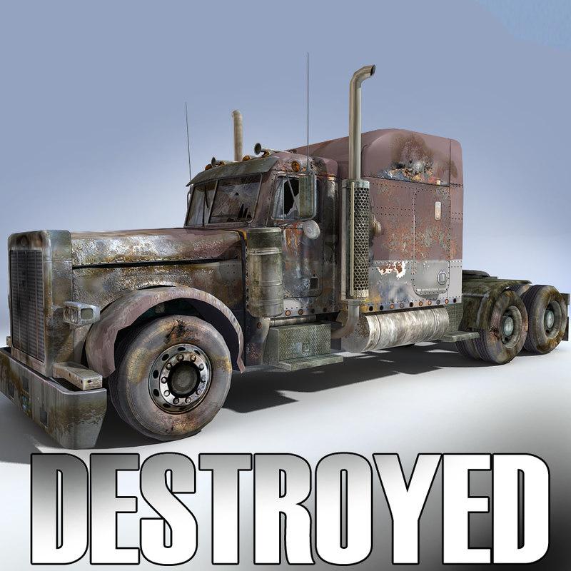 3ds max derelict truck